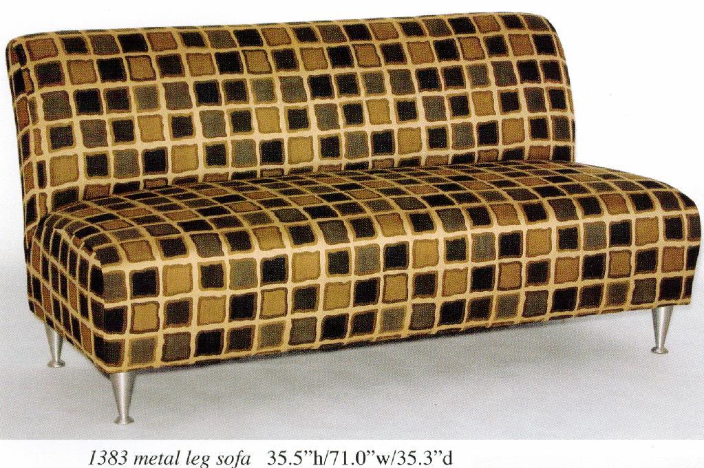 armless sofa image