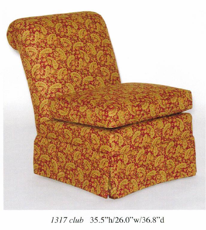 Skirted Slipper Chair Image